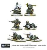 Warlord Games German Heer Panzerschreck, Flamethrower & Sniper teams (Winter)