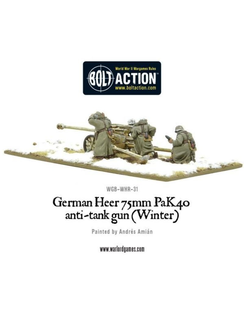 Warlord Games German Heer 75mm Pak 40 anti-tank gun (Winter)