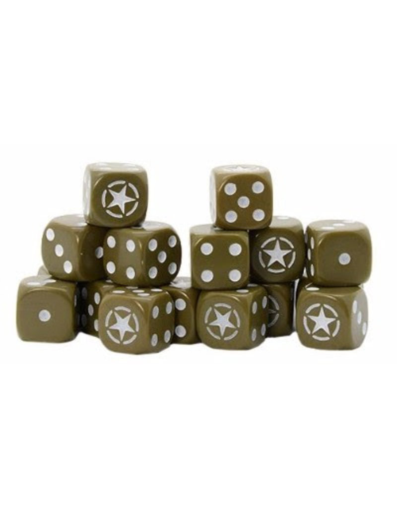 Warlord Games Allied Star D6 Dice (16)