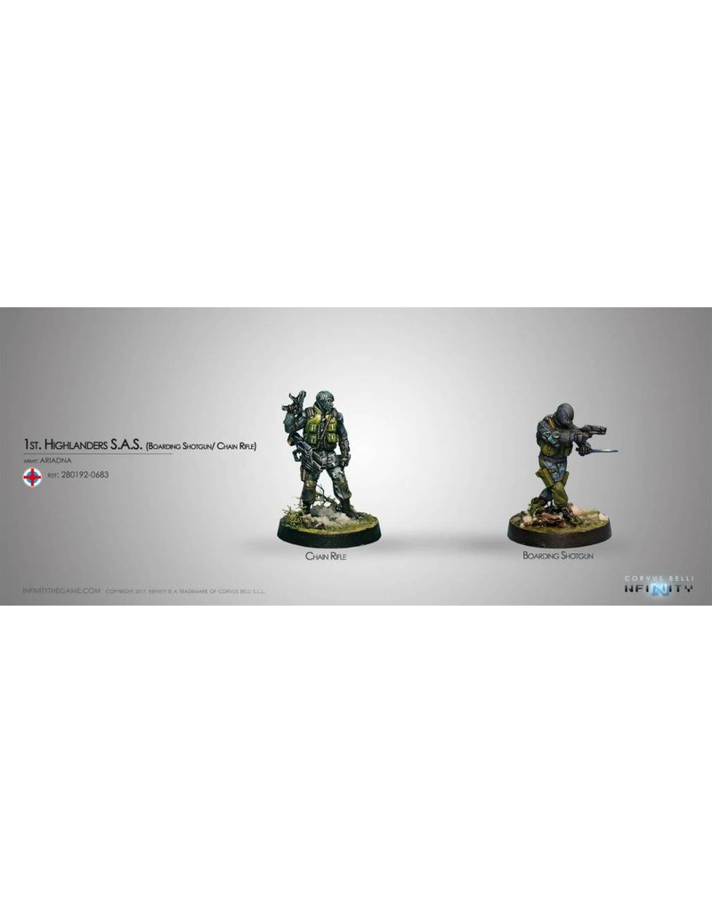 Corvus Belli Ariadna 1st. Highlanders S.A.S. (Boarding Shotgun/ Chain Rifle) Blister Pack