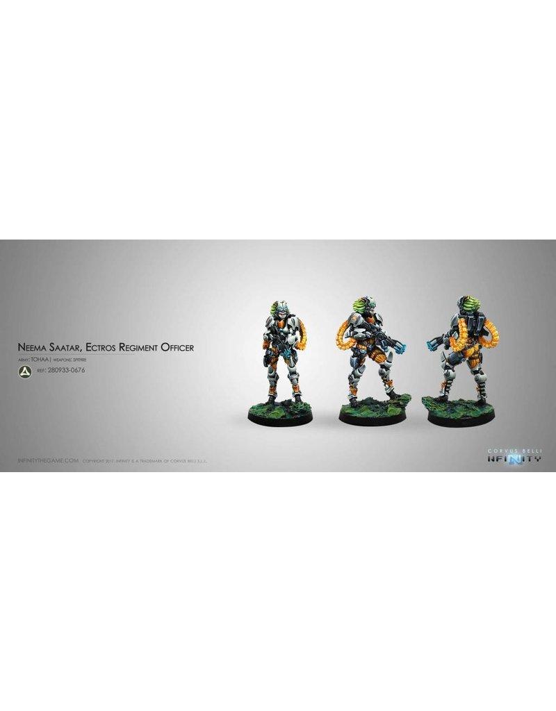 Corvus Belli Tohaa Neema Saatar, Ectros Regiment Officer (Spitfire) Blister Pack