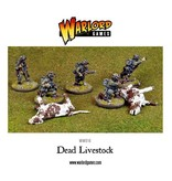 Warlord Games Dead Livestock (2 cows, 1 horse)