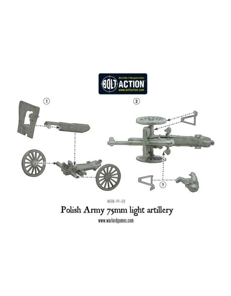 Warlord Games Polish Army 75mm Light Artillery