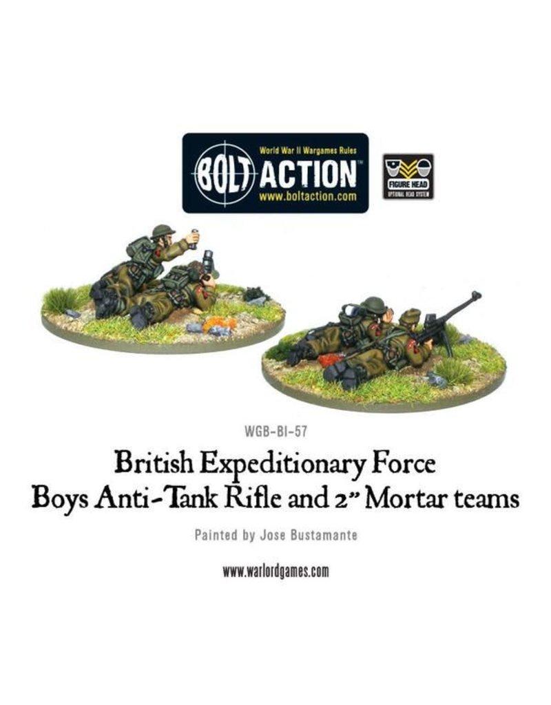 "Warlord Games British Early War Anti-Tank Rifle Team & 2"" Light Mortar Teams"