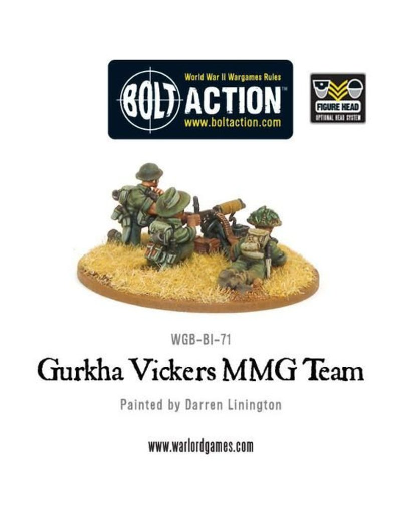 Warlord Games British Gurkha Vickers MMG Team