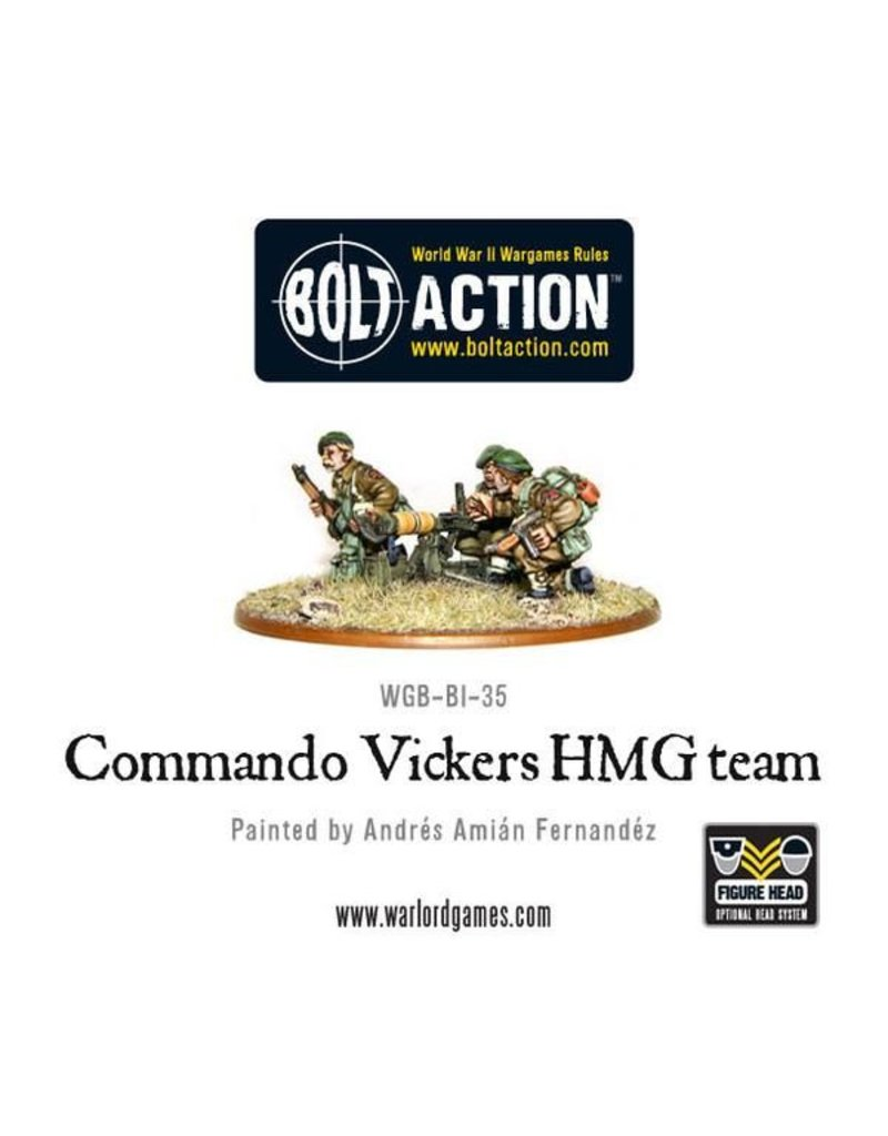 Warlord Games British Commando Vickers HMG team
