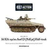 Warlord Games German Sd.Kfz 251/10 ausf D (37mm Pak) Half Track