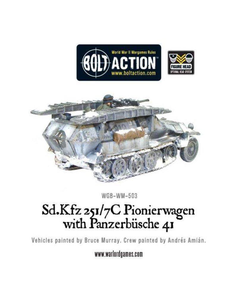 Warlord Games German Sd.Kfz 251/7C Pionierwagen with panzerbuchse 41 Half Track