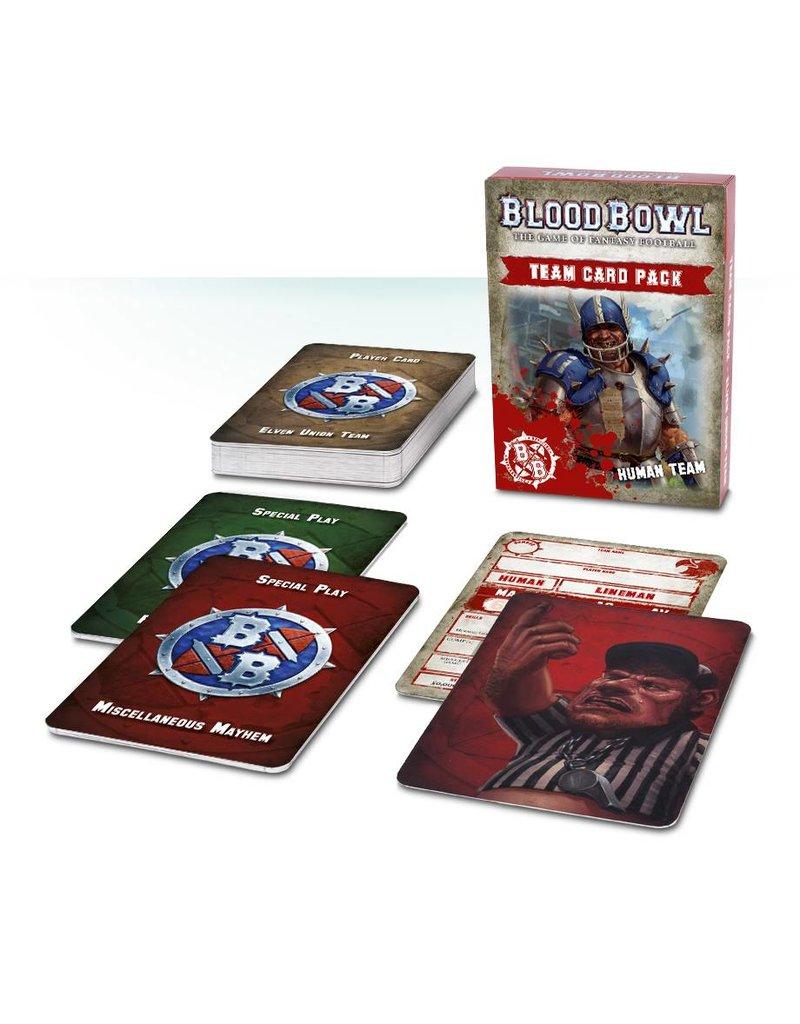 Games Workshop Blood Bowl Human Team Cards (EN)
