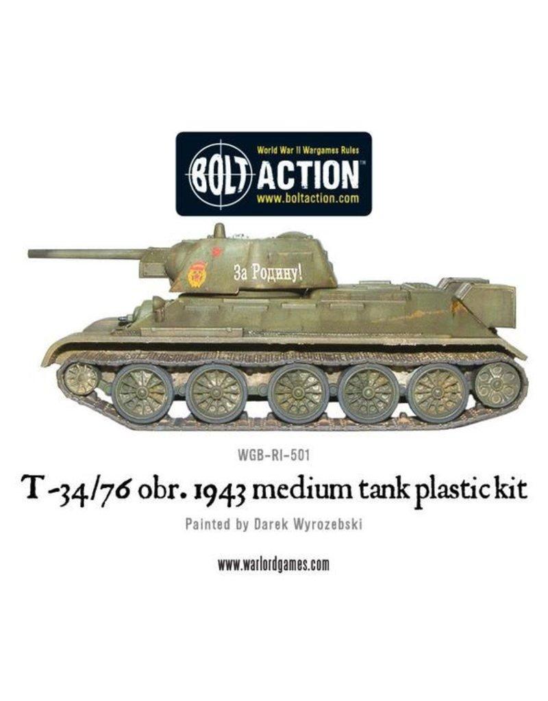 Warlord Games T34/76 Medium Tank Platoon (3) with Tank Riders