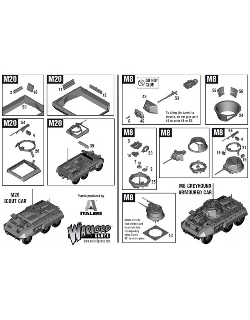 Warlord Games British M8/M20 Greyhound Scout Car