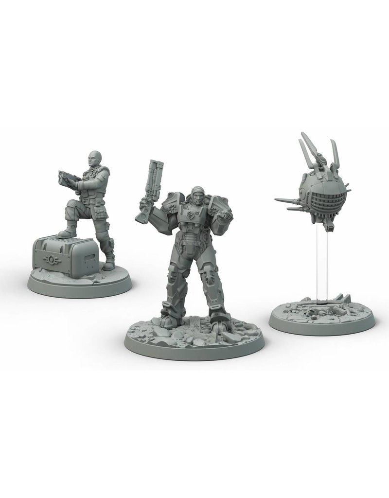 Modiphius Entertainment Fallout: Wasteland Warfare - Brotherhood of Steel Knight-Captain Cade and Paladin Danse