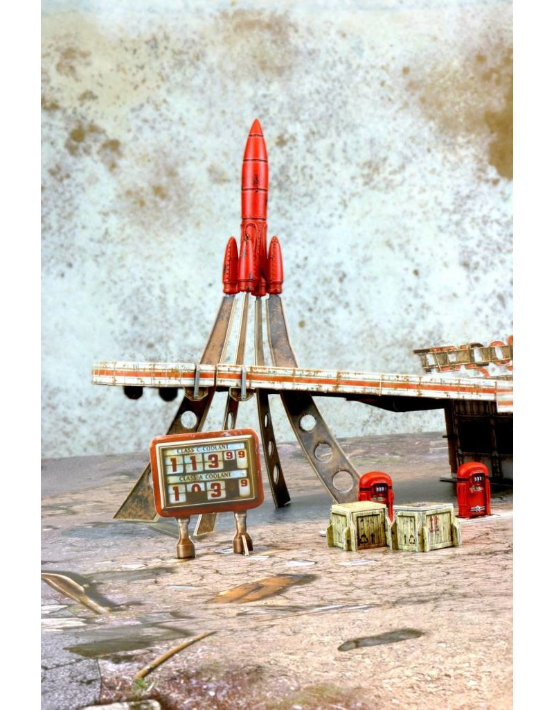 Modiphius Entertainment Fallout: Wasteland Warfare - Red Rocket Scenic Set