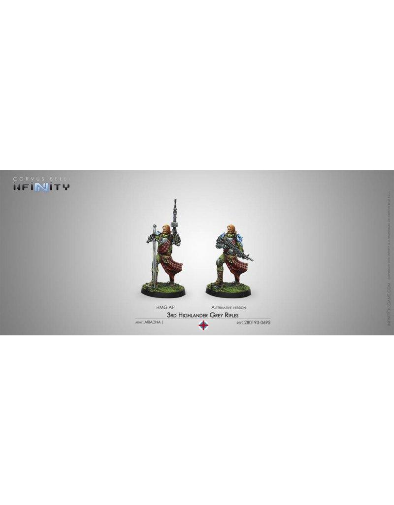 Corvus Belli Ariadna 3rd Highlander Grey Rifles (HMG) Blister Pack