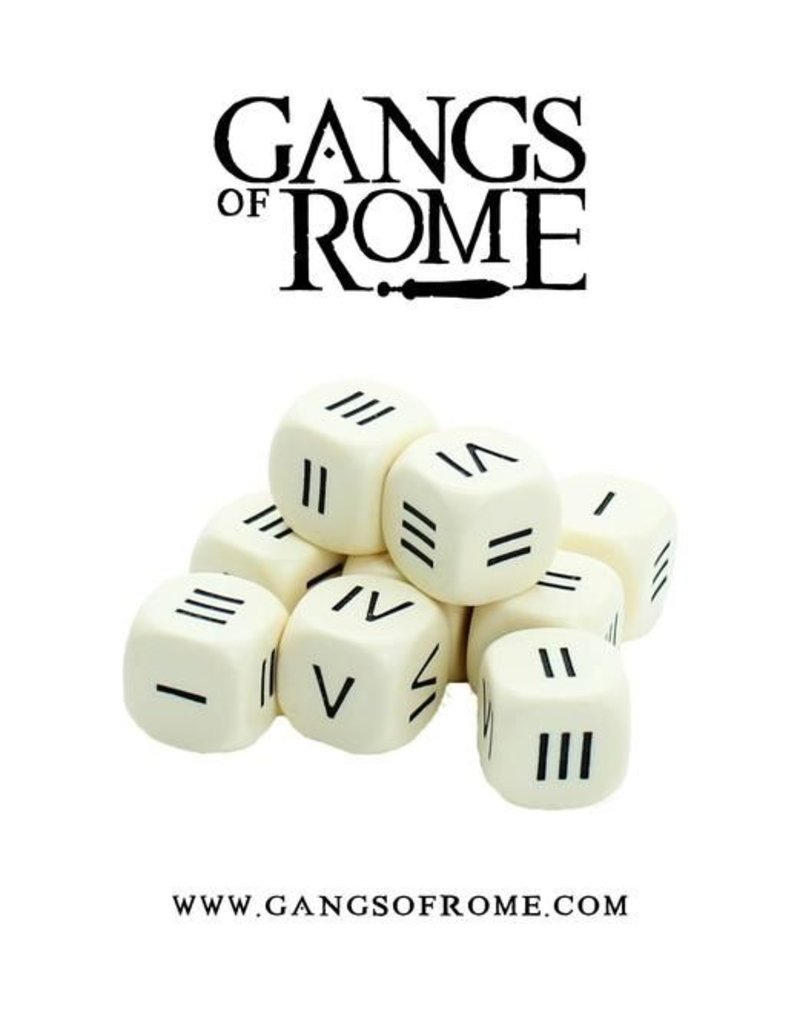War Banner Gangs Of Rome Roman Numeral Dice (10)