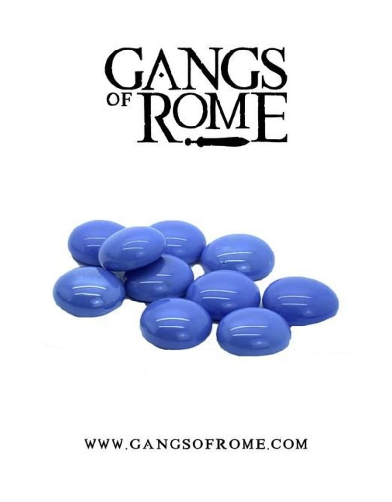 War Banner Gangs Of Rome Blue Activation Pebbles (10)
