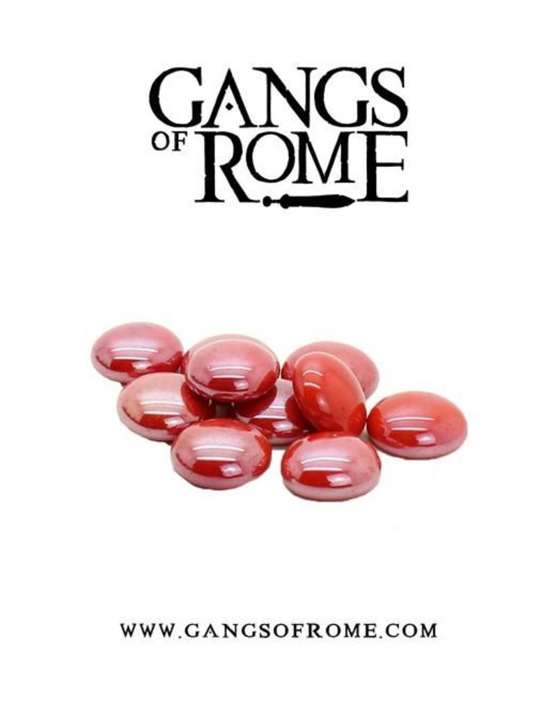 War Banner Gangs Of Rome Red Activation Pebbles (10)