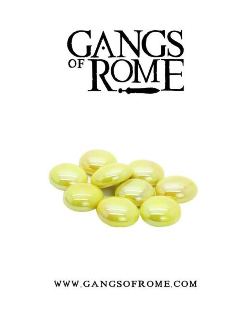War Banner Gangs Of Rome Yellow Activation Pebbles (10)