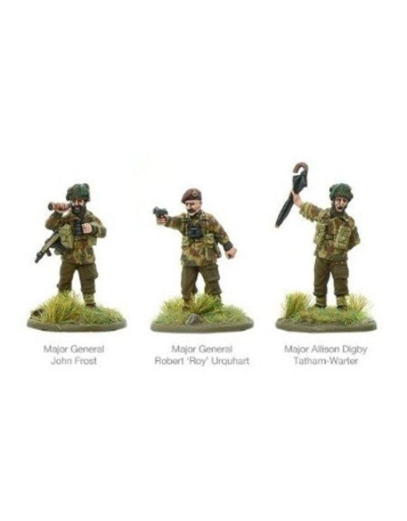 Warlord Games British Airborne characters - Frost, Urquhart & Tate