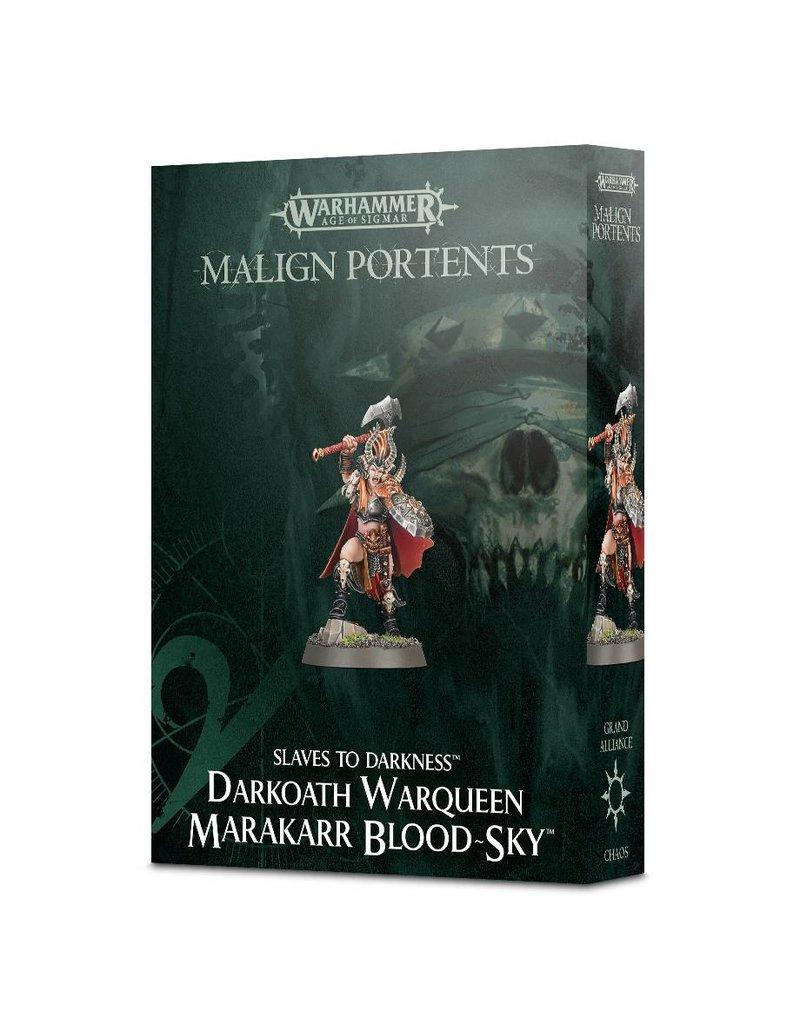 Games Workshop Malign Portents Slaves To Darkness Darkoath Warqueen Marakarr Blood Sky