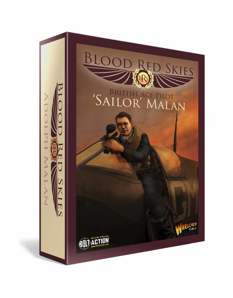 Warlord Games Blood Red Skies British Spitfire Ace - Adolph 'Sailor' Malan