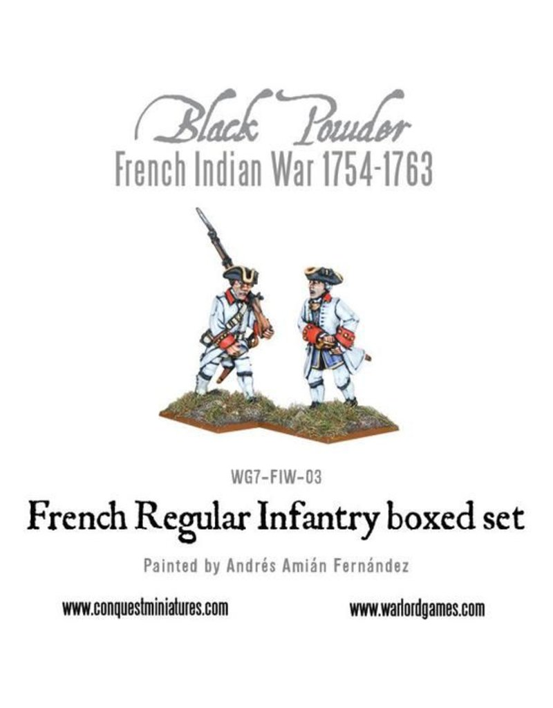 Warlord Games French Indian War 1754-1763 French Regular Infantry Box Set