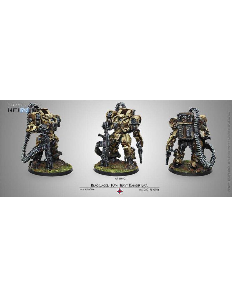 Corvus Belli Ariadna Blackjacks, 10th Heavy Ranger Battalion (AP HMG) Box Set