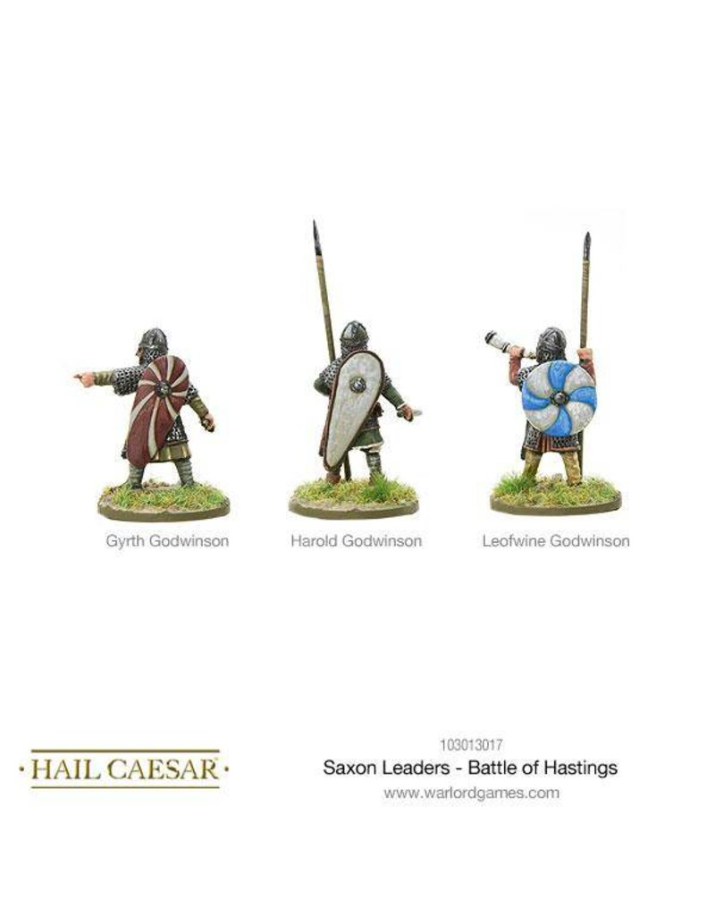 Warlord Games The Dark Ages Saxon Leaders - Battle Of Hastings Pack