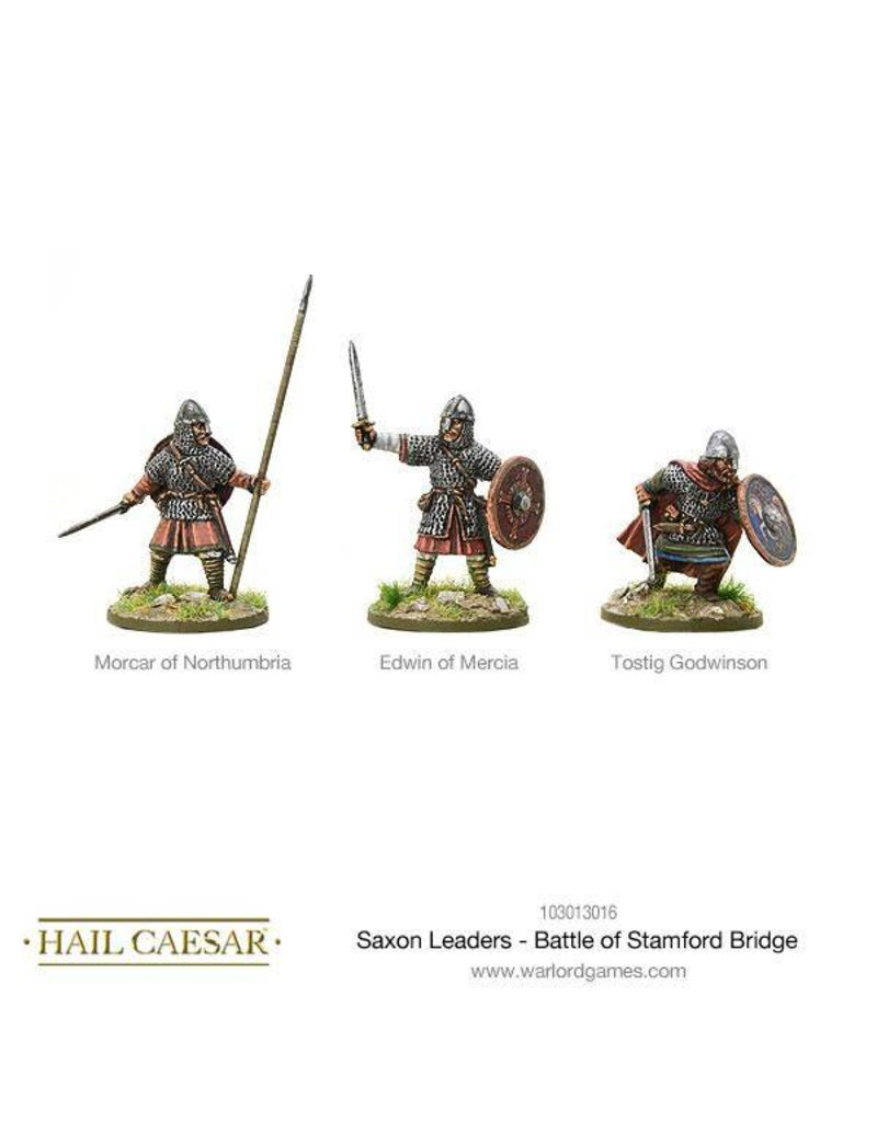 Warlord Games The Dark Ages Saxon Leaders - Battle Of Stamford Bridge Pack
