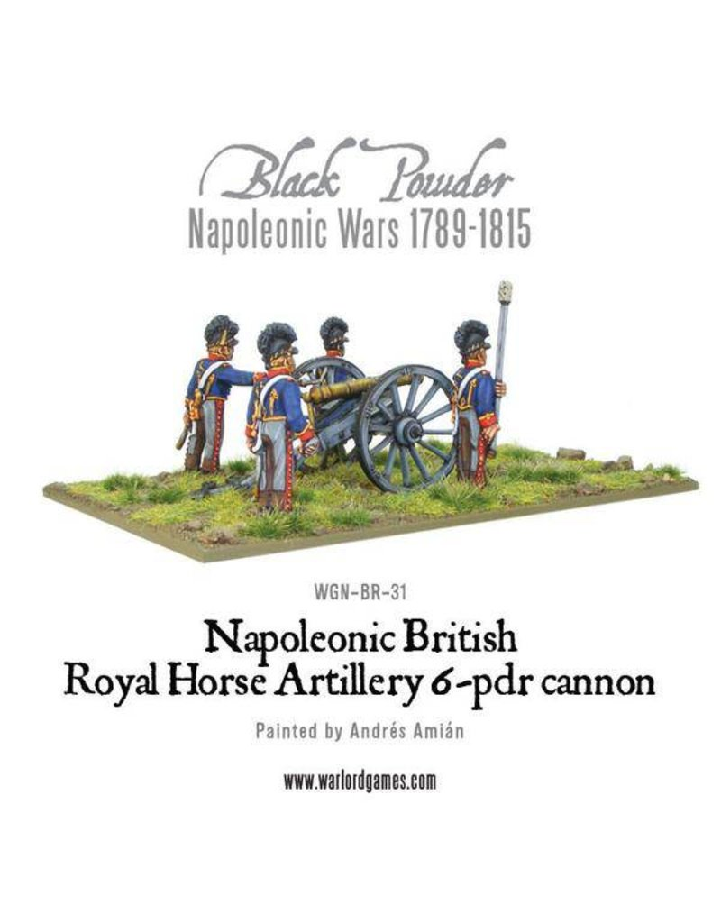 Warlord Games Napoleonic Wars 1789-1815 British Horse Artillery 6-Pdr Cannon Pack