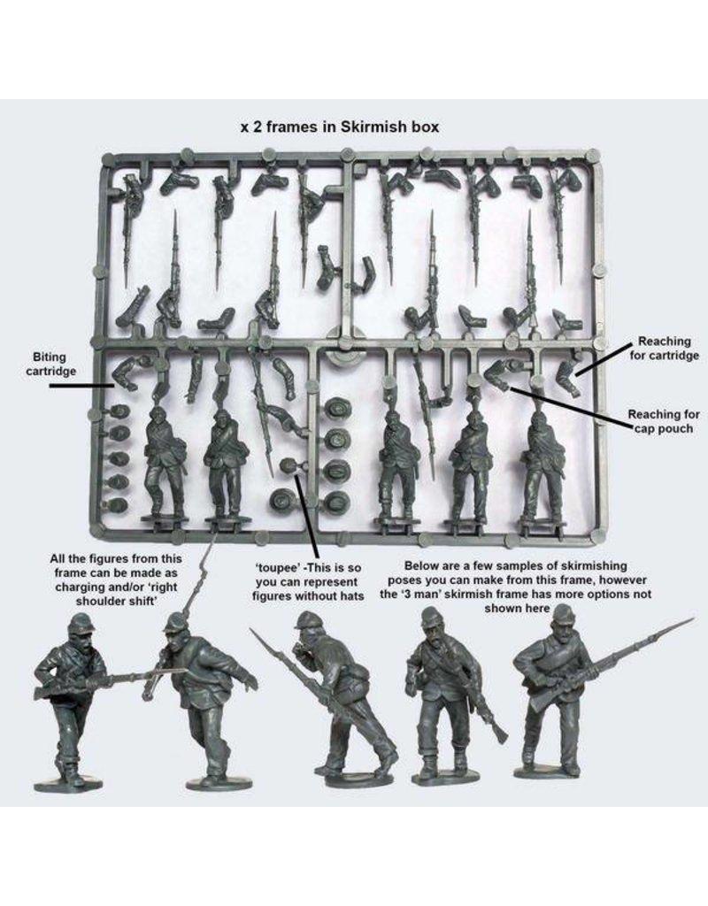 Perry Miniatures American Civil War 1861-1865 Union Infantry In Sack Coats Skirmishing Box Set