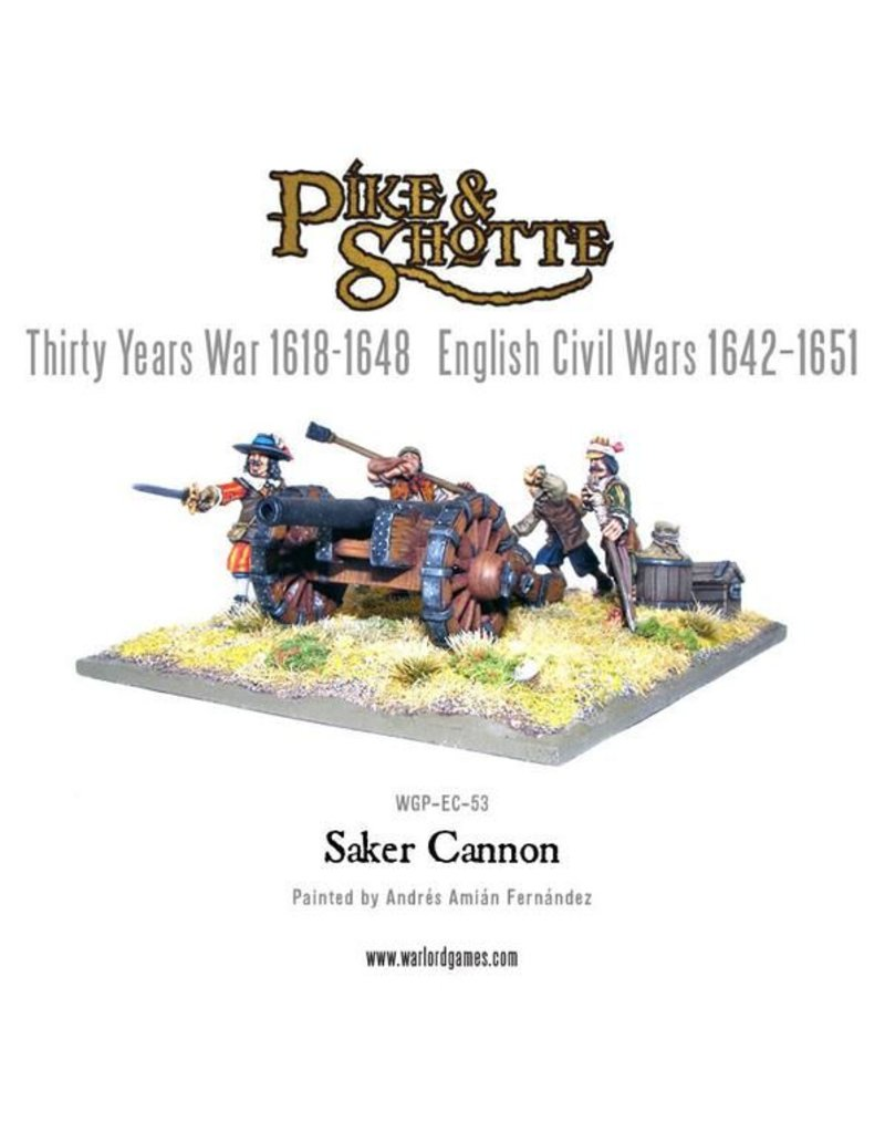 Warlord Games Thirty Years War 1618-1648 Saker Cannon & Crew Pack