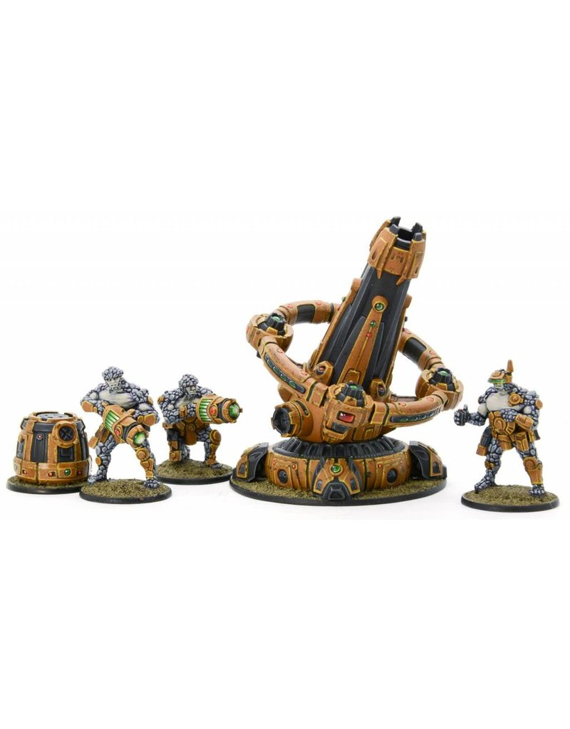 Warlord Games Boromite Heavy Support team with X-Howitzer Pack