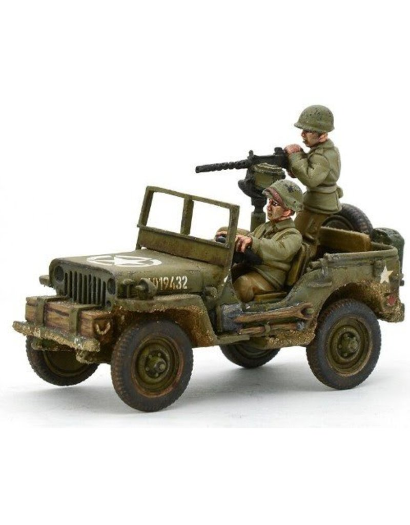 Warlord Games US Army Jeep with 30 Cal MMG Blister Pack
