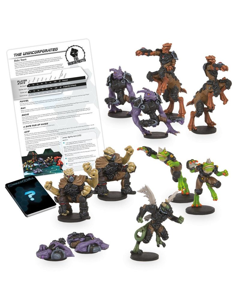Mantic Games Rebs Team: The Unincorporated Dreadball 2nd Edition Plastic Boxed Set