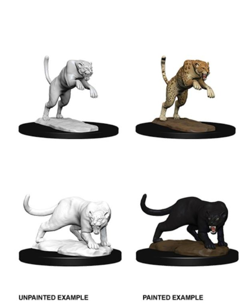 Wizkids Nolzur's Marvelous Miniatures: Panther & Leopard (Wave 6)