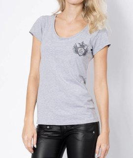 Girls V-Shirt Logocross bling