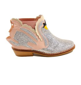 Stella McCartney Lily swan boots pink