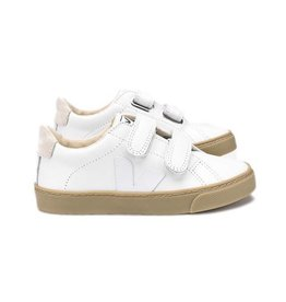 Veja Esplar small velcro leather extra white Natural sole