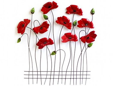 Sampaguita Wall Art Poppies 60x56