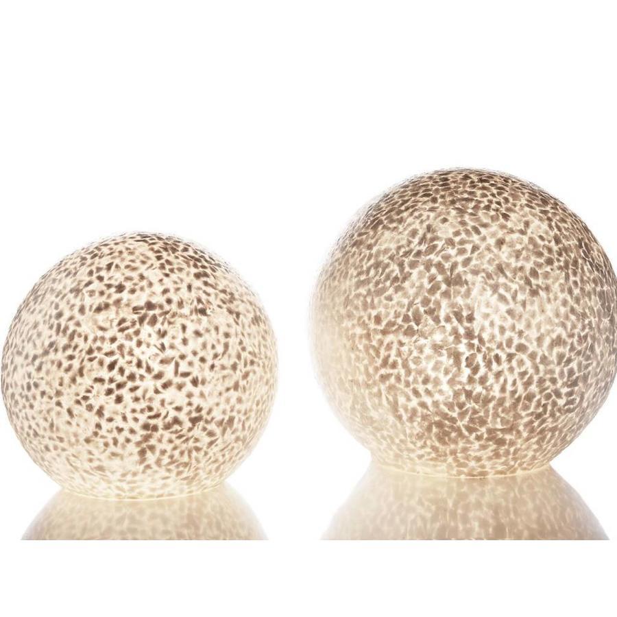 Wangi White - tafellamp - Staande bol - Ø 30 cm