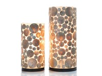 Coin Gold - tafellamp - Cilinder - hoogte 30 cm