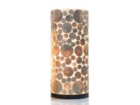 Coin Gold - tafellamp - Cilinder - hoogte 40 cm