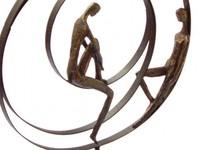 Casablanca Figuur 'Patience' in bronskleur.