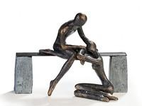 Casablanca Figuur 'Troost' brons