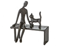 Casablanca Metal-sculpture 'Woman with cat'
