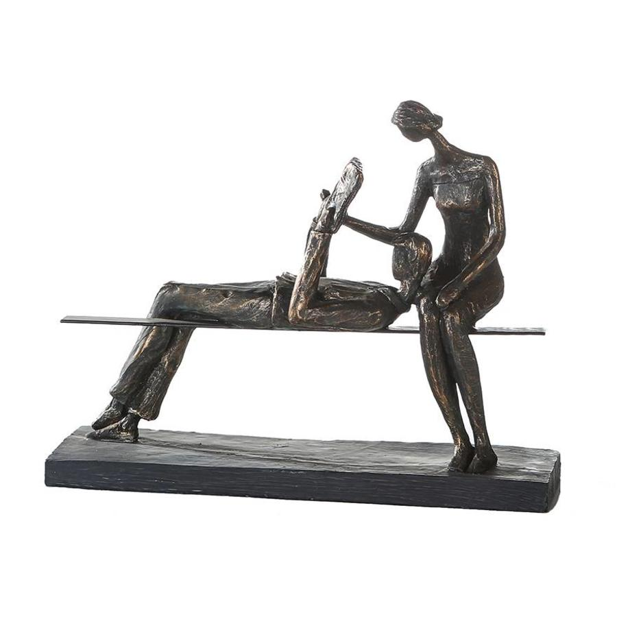 Casablanca Figuur 'Rustpauze'  brons