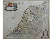 Gouldmaps Republiek der Nederlanden; F. de Wit - Foederatae Belgicae Tabula (..) - 1670  ca.