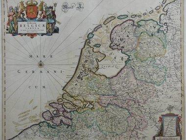 Gouldmaps Republiek der Nederlanden; F. de Wit - Foederatae Belgicae Tabula (..) - 1670  ca. ca.