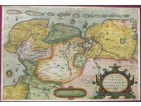 Gouldmaps Oost- en West-Friesland; A. Ortelius - Oost end West Vrieslandts beschrijvinghe (..) - 1584